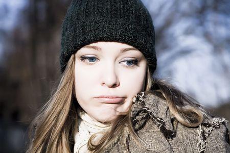 Young Woman Portrait Close-Up Portrait Stock Photo - 3873620