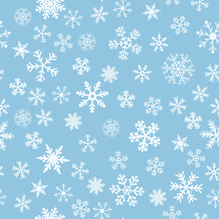 Snow Seamless Light Blue Vector Background. Seamless Background Series. Illustration