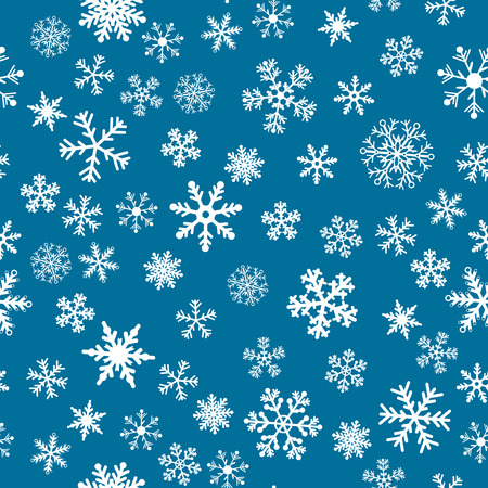 Snow Seamless Dark Blue Vector Background. Seamless Background Series. Vector