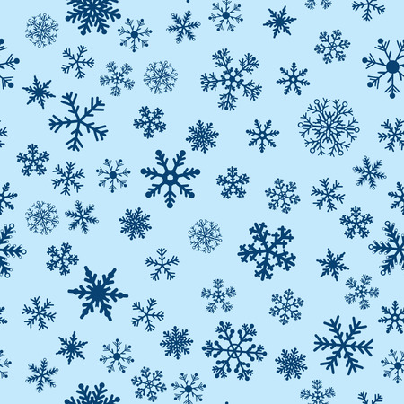 Snow Seamless Blue Vector Background. Seamless Background Series. Stock Vector - 3910662