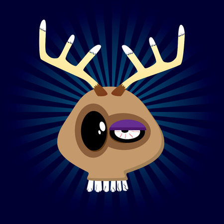 Happy reindeer! Happy Animals Collection. Vector