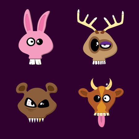 cow teeth: Rabbit, Reindeer, Bear and Cow. Happy Animals Collection Part One.