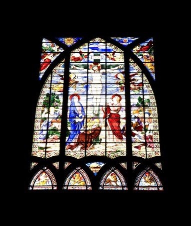 multi national: Stained-glass window. Paris Church