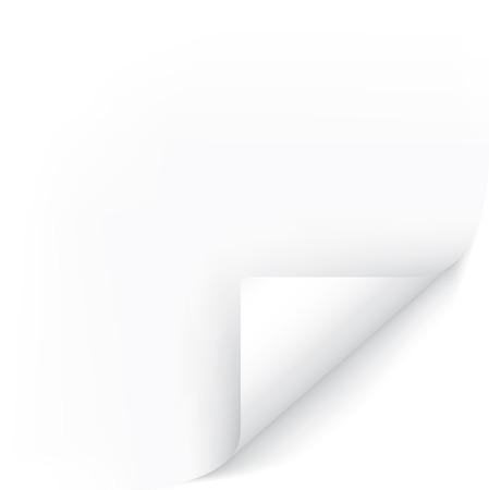 White Page Corner. Easy To Edit Vector Image. Ready For Your Message. Illustration