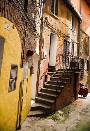 Backstreet. Old Italian City Under The Sunlight. Stock Photo - 4764377