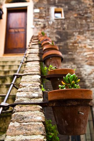 Stone Staircase. Old Italy Series. Stock Photo - 4764440