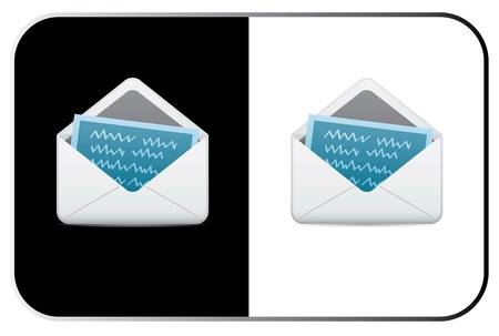 Vector Mail Icon. Two Colors. Lumi Series. Vector