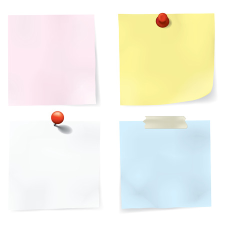 Colorful Notes Set. easy To Edit Vector Image. Vector