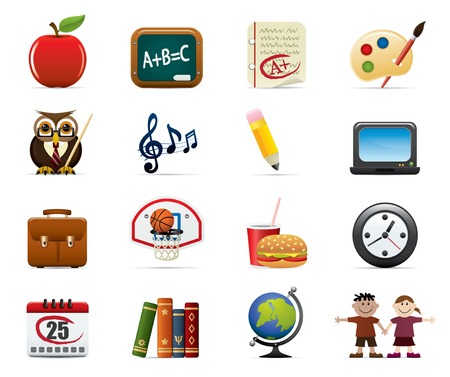School And Education Icon Set Stock Vector - 4764588