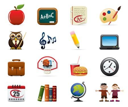 profesores: Y la Escuela de Educaci�n Icon Set