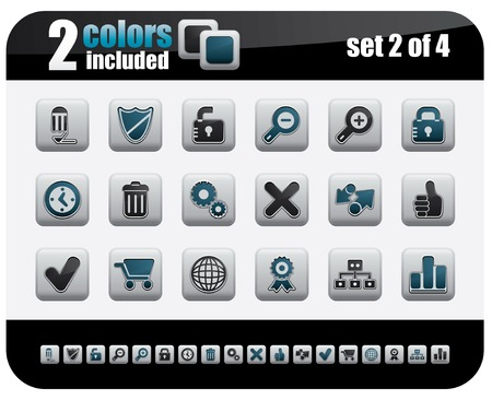 Web Icons Set. Steelo Series. Set 2 of 4. Stock Vector - 4764585
