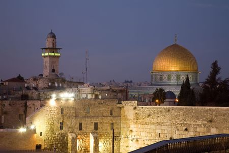 Dome Of The Rock As Seen From The Rooftops Of The Old Quarter. Stock Photo - 4764590
