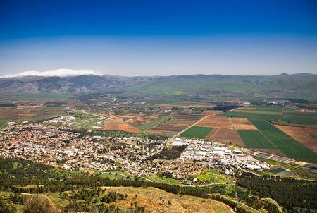 golan: Hermon Mountain And Golan Heights View. Spring. Israel