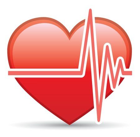 paliza: De ritmo cardiaco de elemento de dise�o vectorial