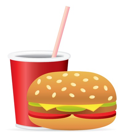 lunch break: Fast Food Vector Clip Art