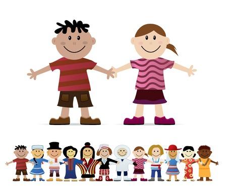Freundschaft. Kinder der Welt.