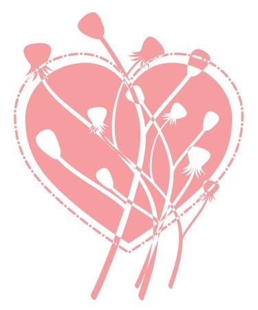 Emo Heart. Vector Love Concept. Vector