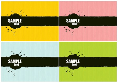 Vector Grunge Background Set. Four Colors. Vector