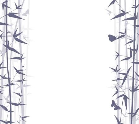ornaments vector: Vector Bamboo Background. Natura Contesto Series.