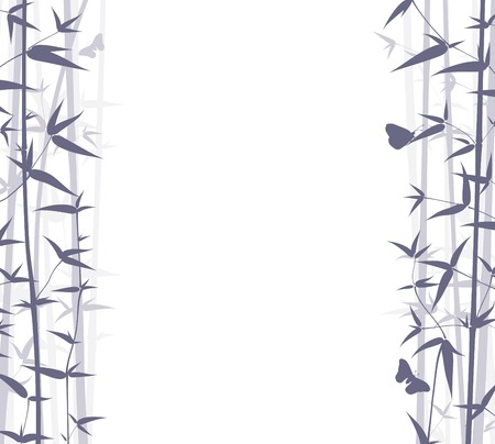 animal vector: Vector Bamboo Background. Nature Background Series.