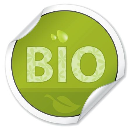 Bio Sticker. Ecology Vector Collection. Vector