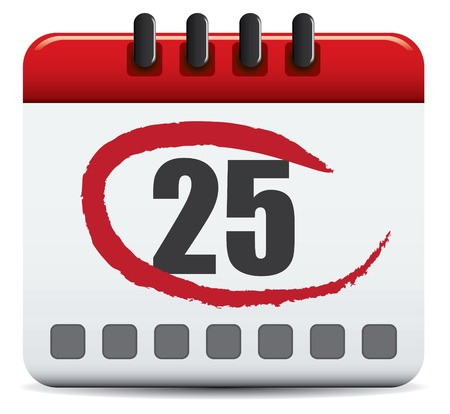 Vector Calendar On White Background Stock Vector - 4962737