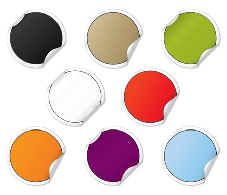 Vector Colorful Blank Sticker Set Stock Vector - 4962745