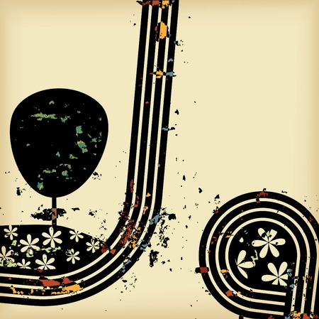Abstract Retro Grunge Vector Background. Retro Collection Vector