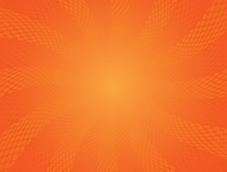 Abstract Halftone Orange vector Background Vector