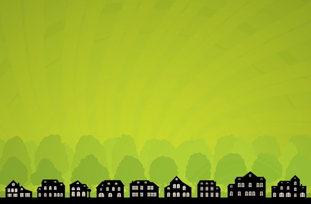 Green City Skyline. Vector Ecology Collection. Vector