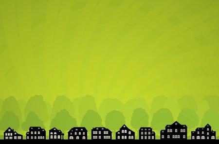 Green City Skyline. Vector Ecology Collection. Vector