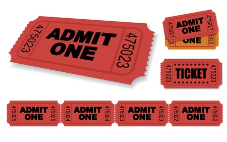 Admit One Vector Ticket Set Vector