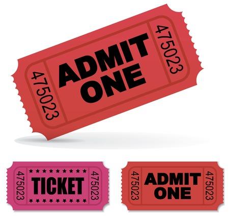 admit one: Admit one Vector Tickets Set Illustration