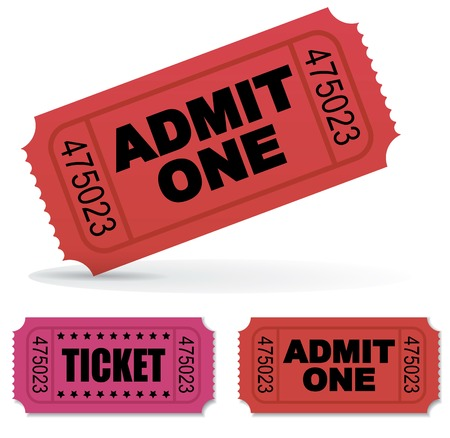 Admit one Vector Tickets Set Vector