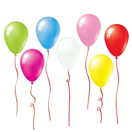 Set Of Vector Colorful Balloons Vector