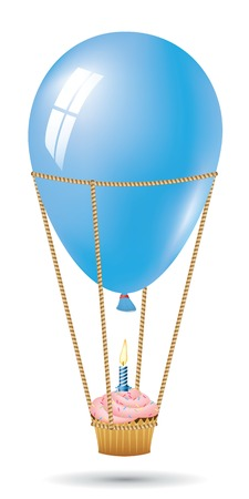 Birthday Vector Concept. Balloon Collection. Vector