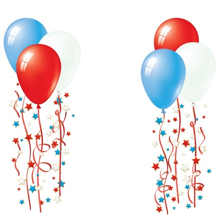 fourth birthday: Patriotic Balloon Vector. Balloon Collection. Illustration
