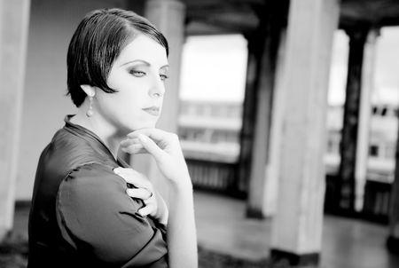 xx century: Beauty Woman Portrait. Retrospective Review. 20-s  XX Century.