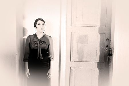 retrospective: Woman Near The Door. Retrospective Review. 20-s  XX Century.
