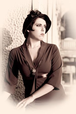 retrospective: Woman In The Hat. Retrospective Review. 20-s  XX Century.