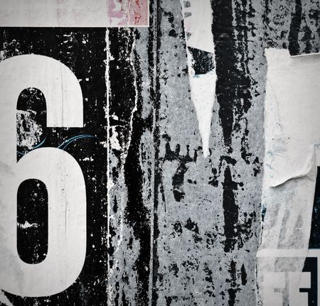 torned: Grunge City Wall With Old Posters