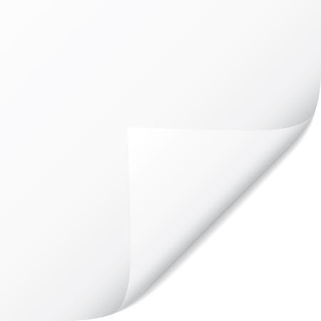 White page vecteur frisés coin. De collecte de papier Vecteurs
