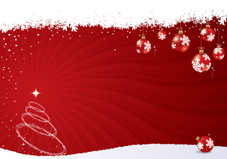 Red vector christmas background. Christmas vector collection. Stock Vector - 5624174