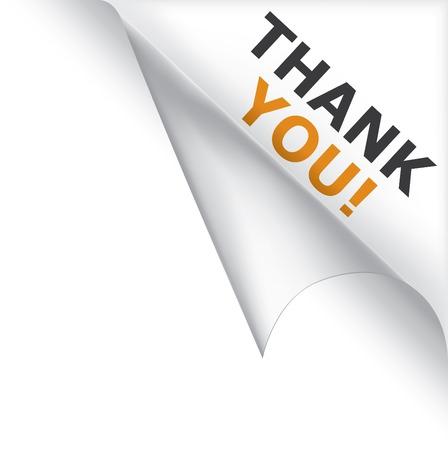 te: P�gina de vector rizado esquina con mensaje de agradecimiento Vectores