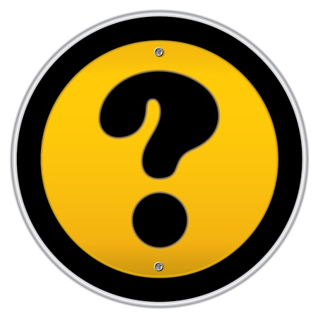 Question mark traffic sign. Vector traffic sign collection.