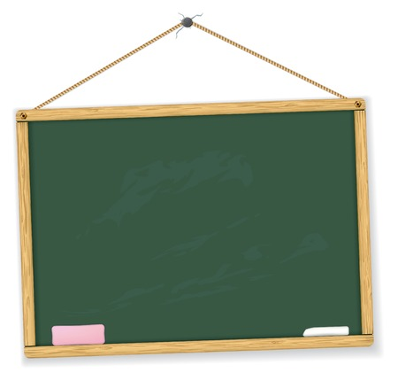 green board:  blackboard. Highly detailed. Easy to edit. Education collection. Illustration