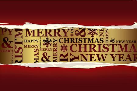 Merry tarjeta de felicitación de Navidad. Colección de Navidad.