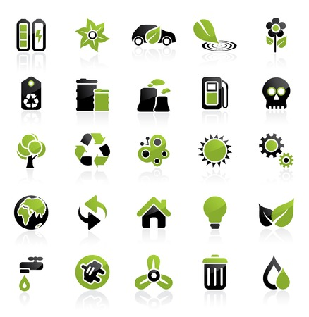 edit icon: Environment icon set. Easy to edit. Ecology collection.