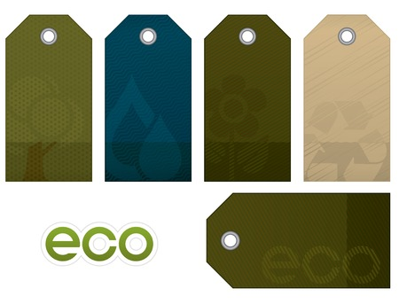 Environment tag set. Environment and nature collection. Stock Vector - 5658019