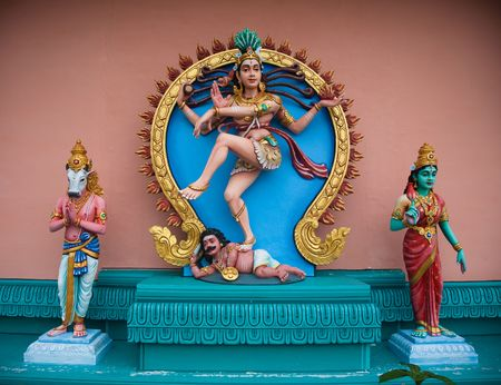 Avatars in the indian temple. Penang collection. photo